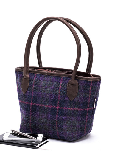 Grape Grid Handbag