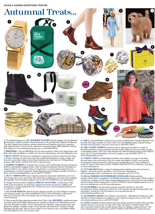 House and Garden - Mandarina Shoes in the media