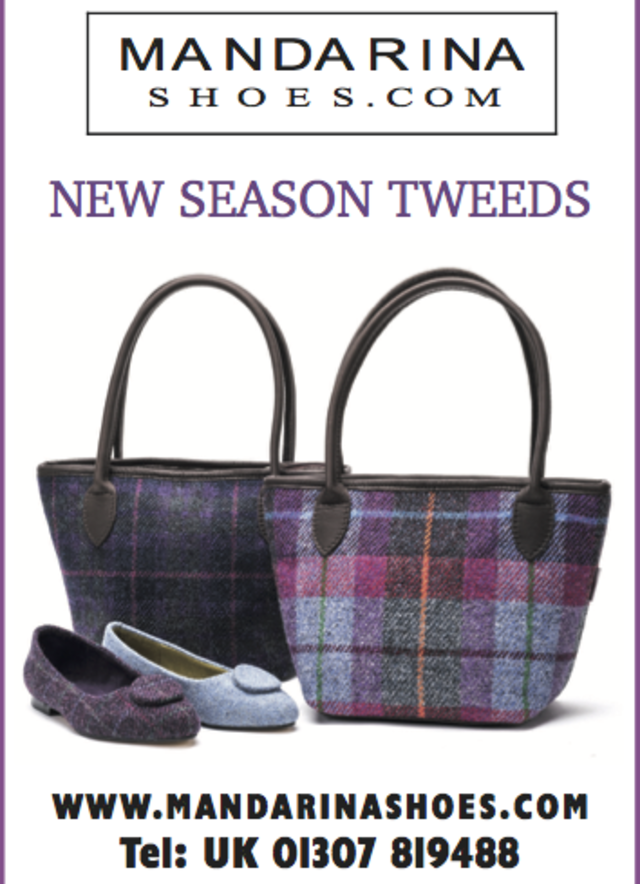 New season tweed shoes and bags