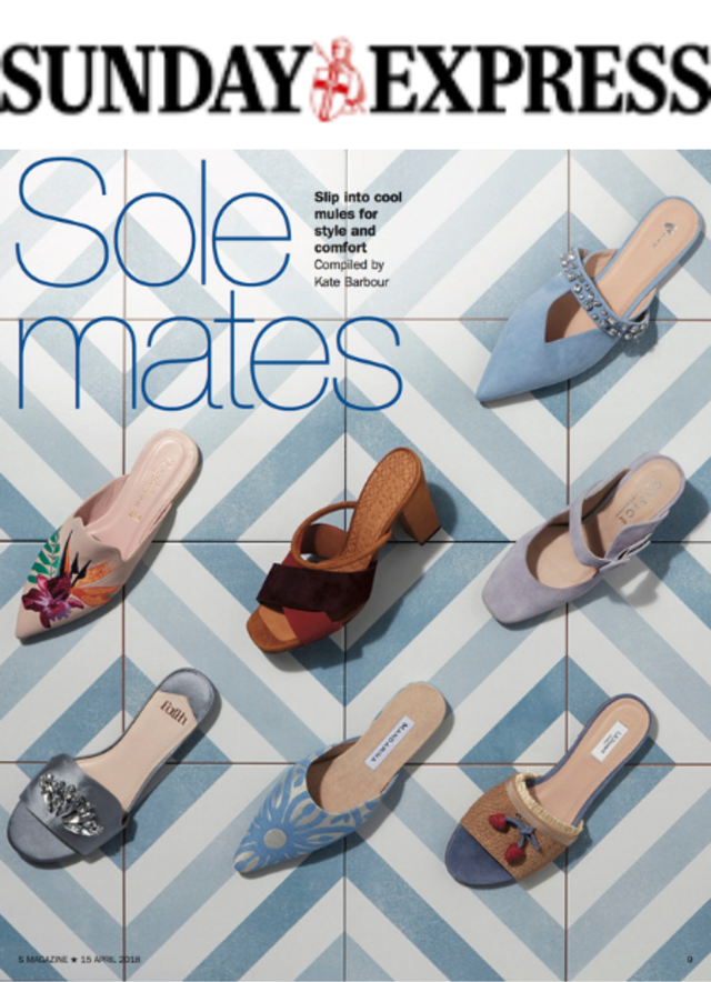 Sunday Express - Mandarina Shoes in the media