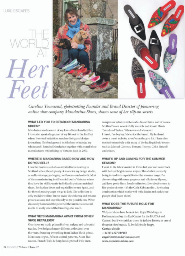 Interview with Mandarina Shoes founder, Caroline Townsend