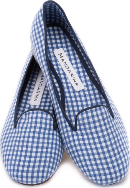 Blue Gingham Loafer
