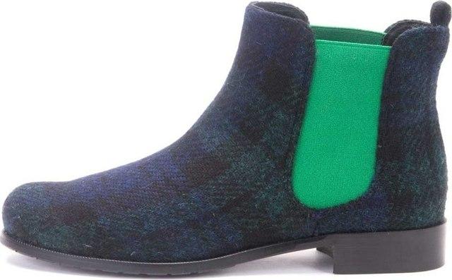 Chelsea Boots Plaid Mandarina Shoes