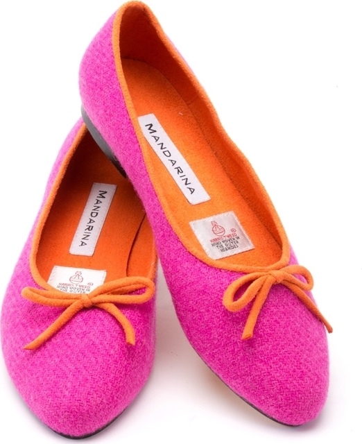 Hot Pink Harris Tweed Pumps Thumbnail