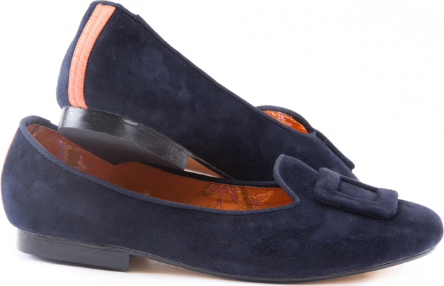 Classic Navy Suede Loafer