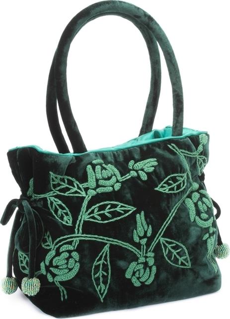 Green Velvet Handbag Mandarina Shoes