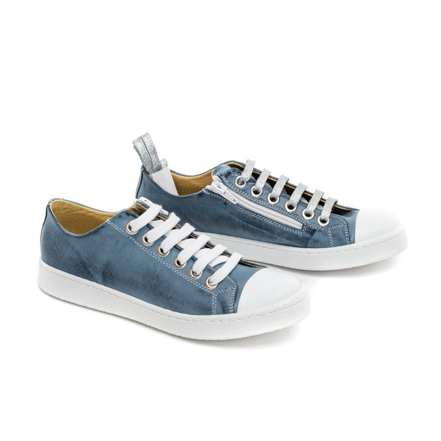 Blue Leather Sneakers / On Order