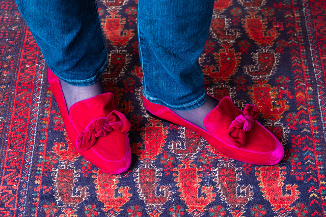Broadway Bow Loafer / Fuchsia