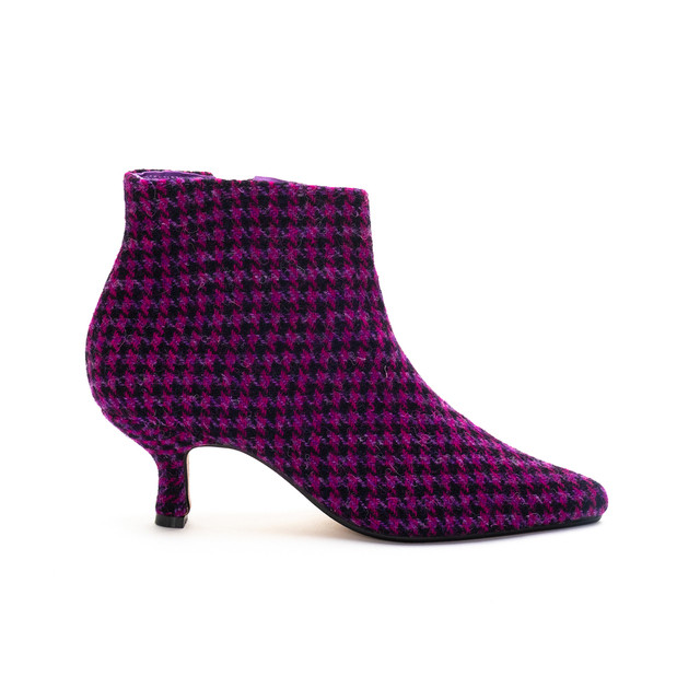 Brora Harris Tweed Pixie Boots / Bright Dogtooth