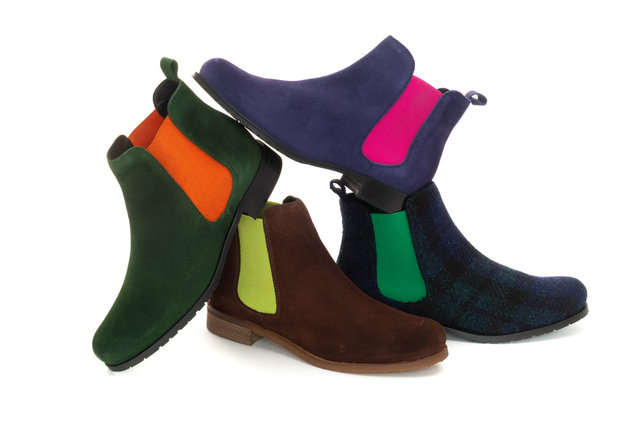 Chelsea Boots / Green & Orange Thumbnail
