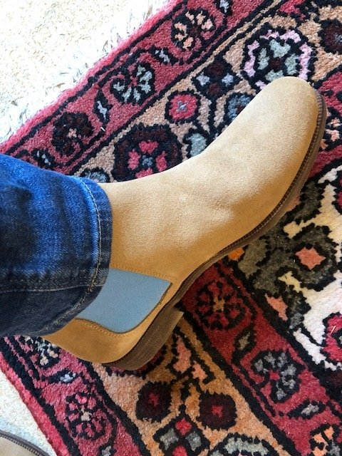 Chelsea Boots / Sand & Cyan