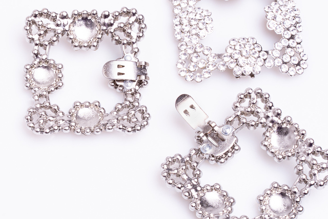 Diamanté Clip on Buckles