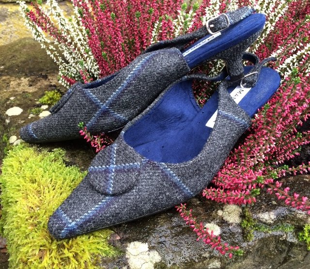 Grey Blue Lovat Kitten Heel Thumbnail