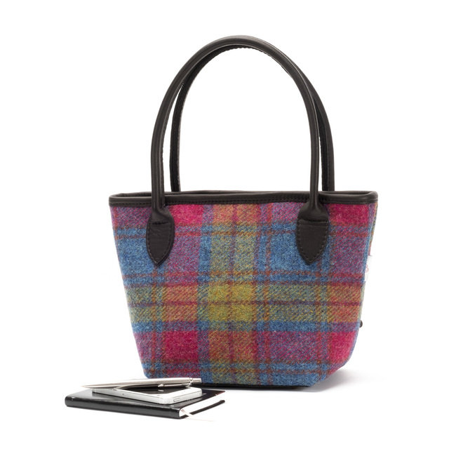 Harris Tweed Bucket Bag / Moorland