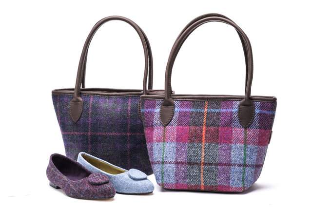 Harris Tweed Bucket Bag / Heather Multi Check