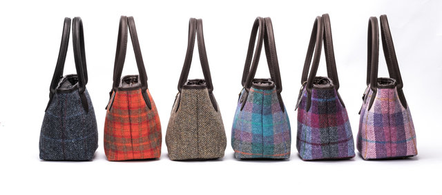 Harris Tweed Bucket Bag / Denim