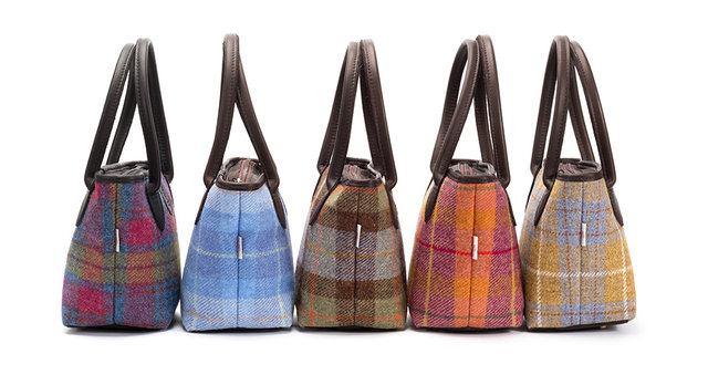Harris Tweed Bucket Bag / Autumn