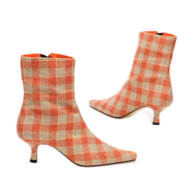 Heritage Check Ankle Boots / Maple