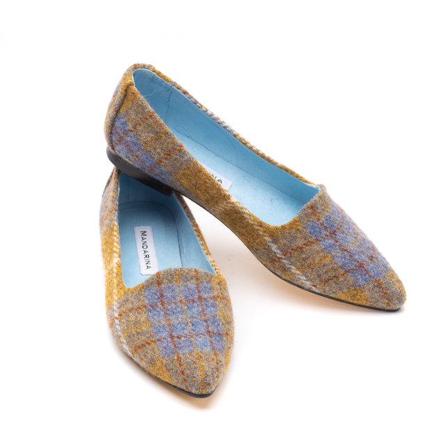 Iona Harris Tweed Ballet Flats