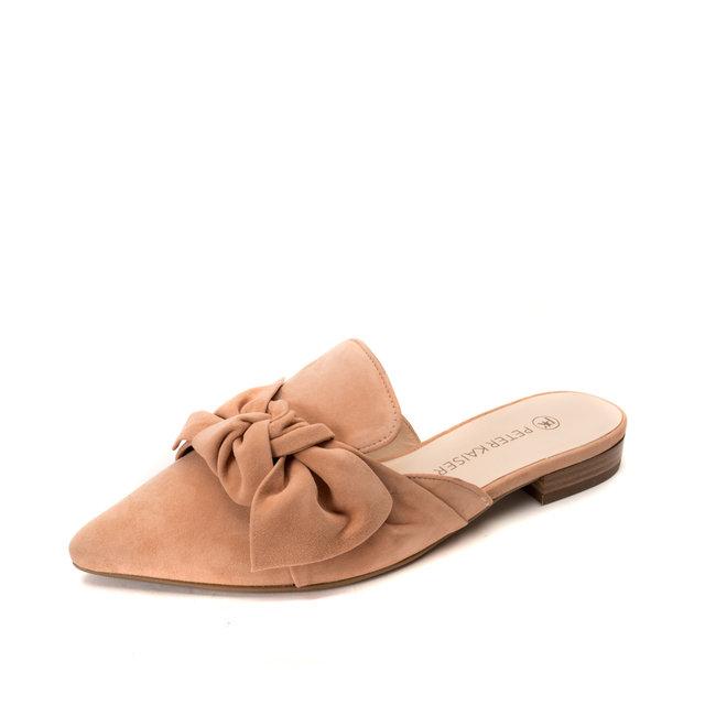 5d7a8c326cfe2 Marnie Mules / Pale Tan | Mandarina Shoes
