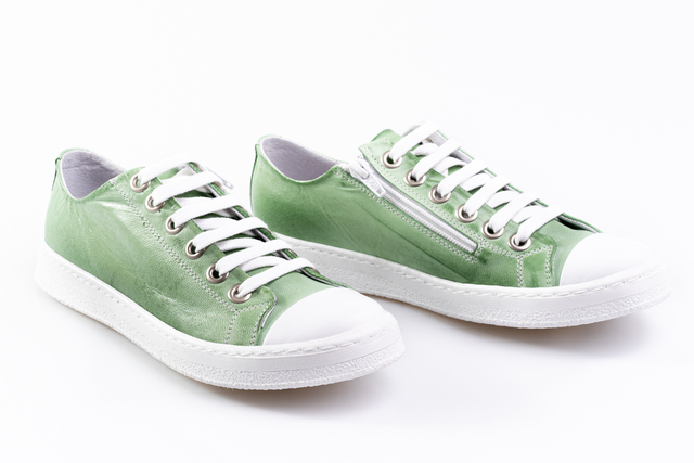 Mint Leather Sneakers