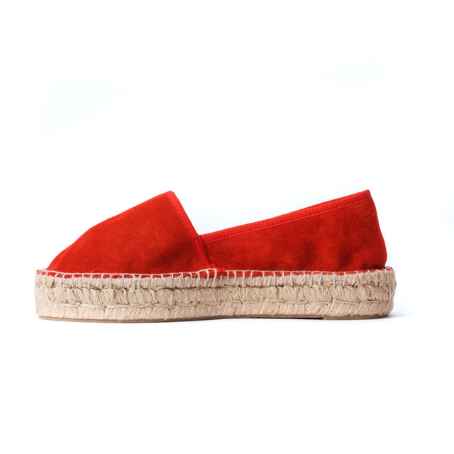 MOLLY ESPADRILLES / Red Suede