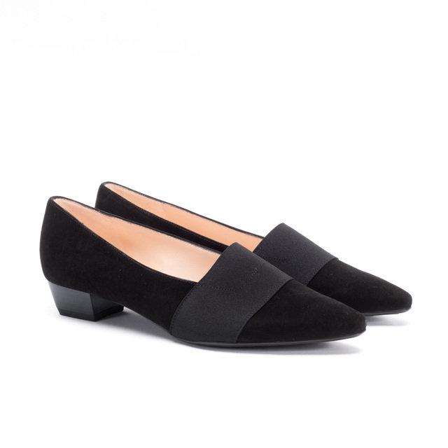 new black suede mid heel court shoes mandarina shoes