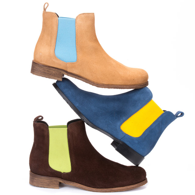 Sand Suede Chelsea Boots