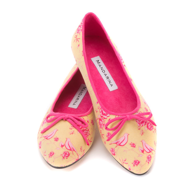 Pink & Yellow Bird Pumps