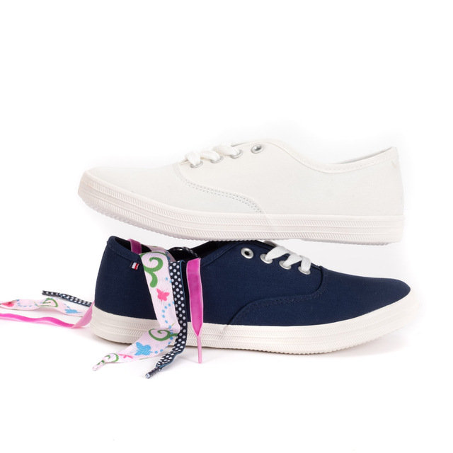 White Ribbon Plimsolls