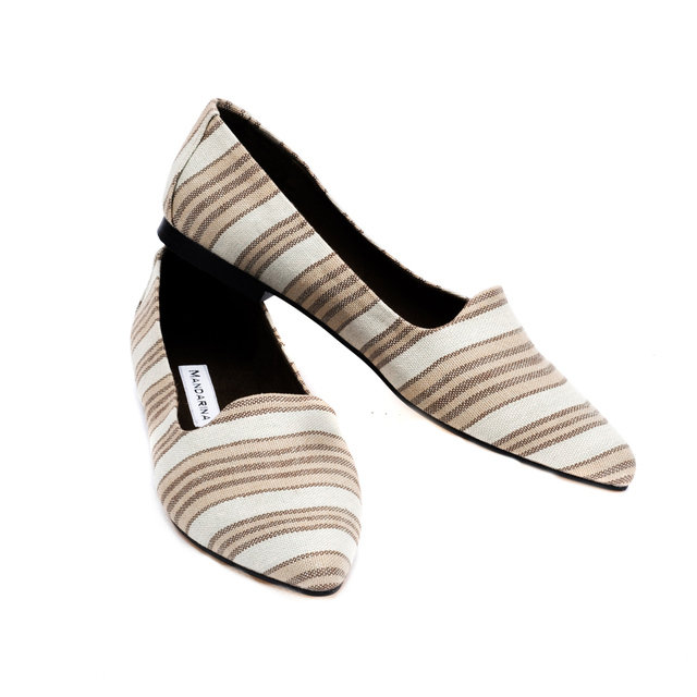 Tilly Flats / Olive Stripe