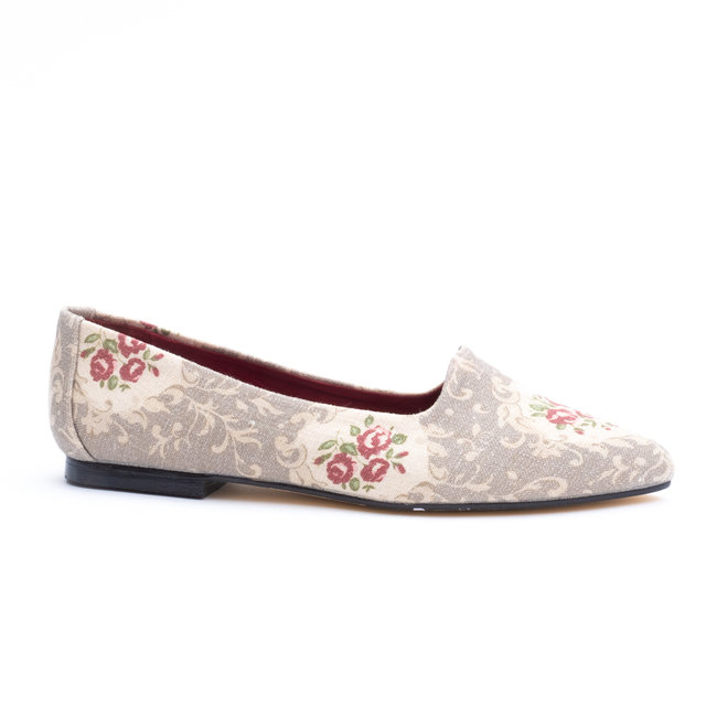 Vintage Rose Linen Flats / UK4  Thumbnail