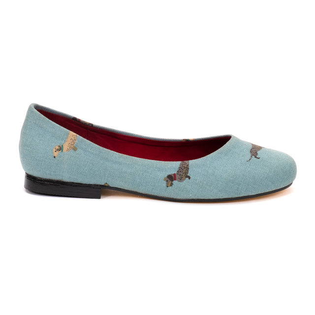Wire-Haired Dachshund Print Pumps