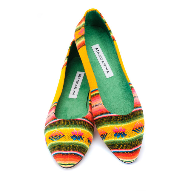 YELLOW IKAT PUMPS