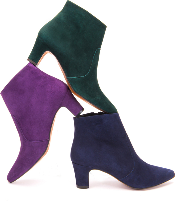 Purple Suede Ankle Boots