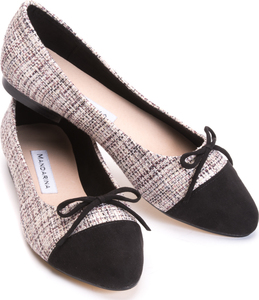 Classic Black & White Toe-Cap Pumps