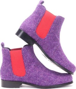 Heather-Purple Harris Tweed Chelsea Boots