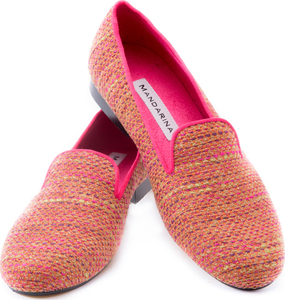 Pink-Lime Boucle Loafer