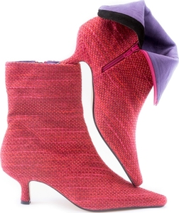 Pink Speckle Ankle Boot