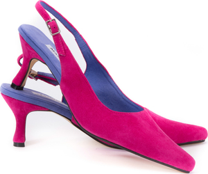 Hot Pink Suede Slingbacks