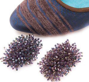 QUARTZ BEADED SHOE CLIPS