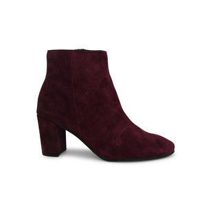 Modish Suede Ankle Boot / Claret