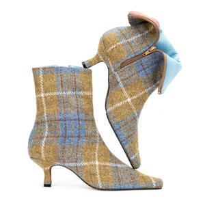 Blue Ochre Harris Tweed Ankle Boots