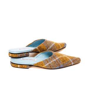 Blue Ochre Harris Tweed Flats