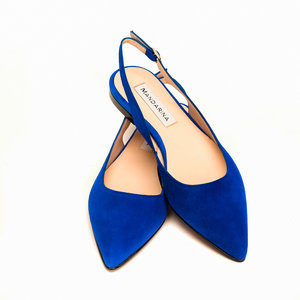 Cornflower Blue Suede Summer Sandals
