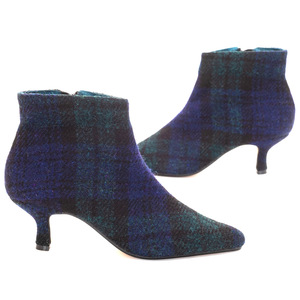 Brora Harris Tweed Pixie Boots / Black Watch
