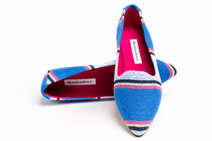 Canvas Stripe Flats