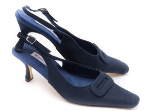Classic Navy Linen Slingback Factory Seconds