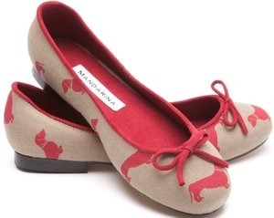 Dachsie Print Pumps / Red