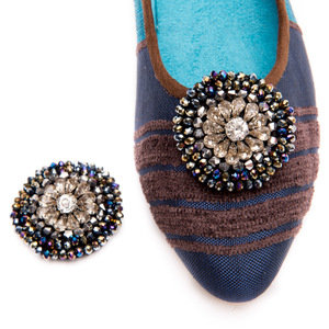 Diamanté Clip-On Shoe Buttons